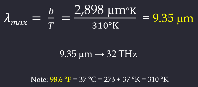 Human Infrared Calculations